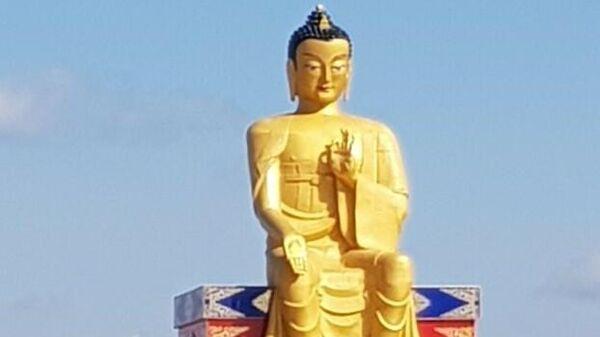 Открытие Статуи Будды Майтреи  в Лагани, Республика Калмыкия