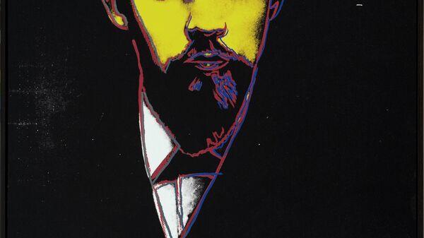Ленин, 1986, акрил и шелкография на холсте, Энди Уорхол