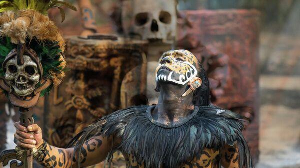 Традиционный костюм индейцев майя