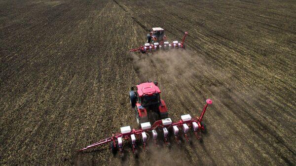 Культивация почвы во время полевых работ