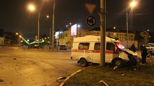 ДТП в результате столкновения скорой помощи с легковым автомобилем в Йошкар-Оле