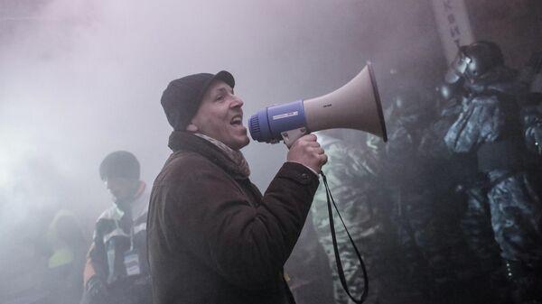 Андрей Парубий на площади Независимости в Киеве