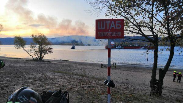 Пожар на сухогрузе на Волге. 27 сентября 2019