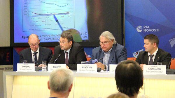 Пресс-конференция на тему: Пальмовое масло с глицидиловыми эфирами: меры госконтроля в РФ в Международном мультимедийном пресс-центре МИА Россия сегодня