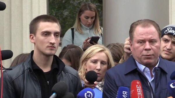 Комментарии Павла Устинова и его адвоката после заседания суда