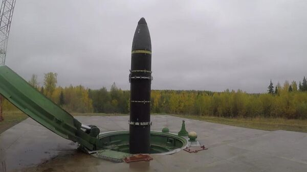 Учебно-боевой пуск баллистической ракеты Тополь-М с космодрома Плесецк
