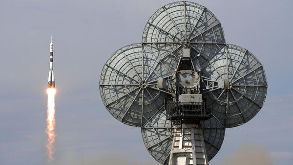 Пуск ракеты-носителя Союз-ФГ с пилотируемым кораблем Союз МС-09 с участниками длительной экспедиции МКС