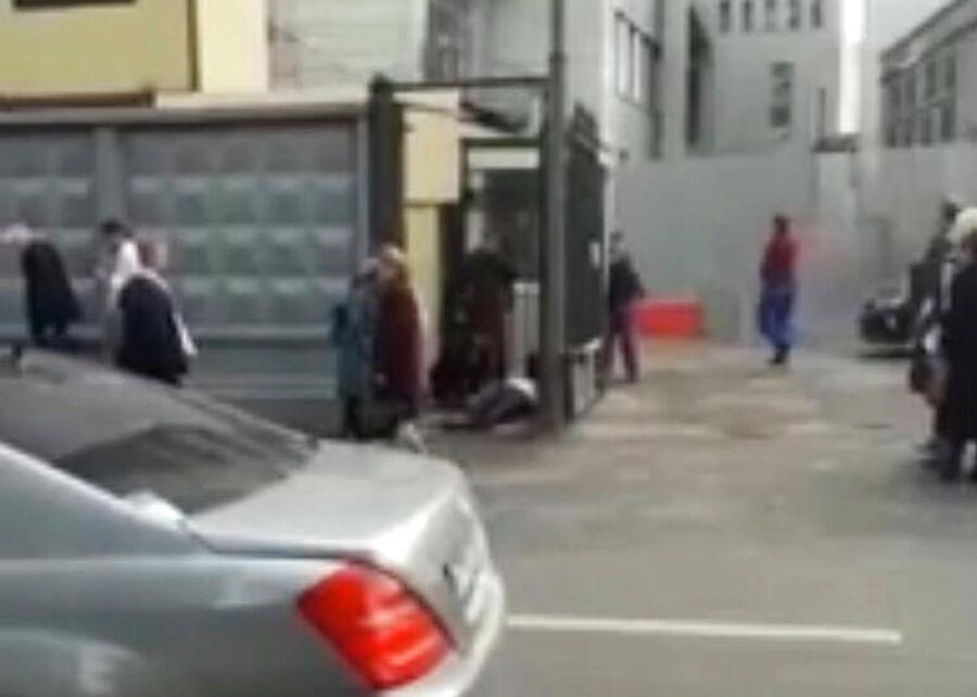 Место нападения на сотрудника СК России в Москве