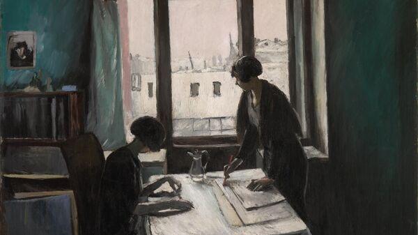 Картина Константина Истомина Вузовки 1933 год