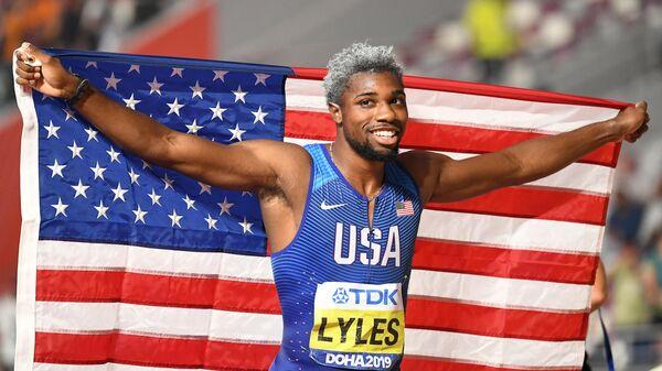 Американский легкоатлет Ноа Лайлс