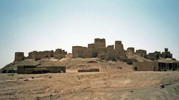 Древние развалины города Мариб, Йемен