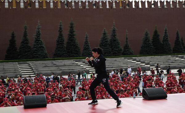 Массовая тренировка по боксу на Красной площади