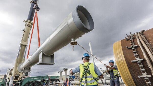 Строительство газопровода Северный поток-2
