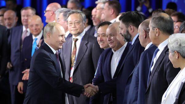 Рабочая поездка президента России Владимира Путина в Сочи