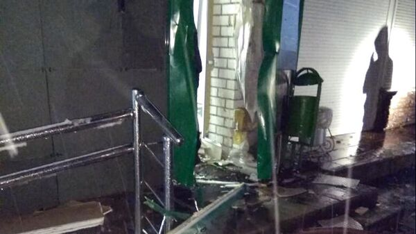 Место взрыва банкомата в Череповце