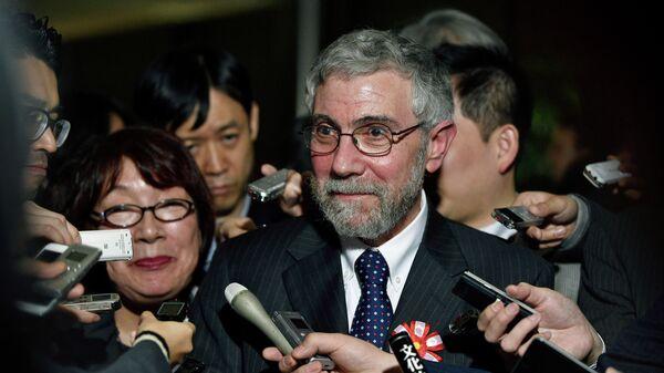 Лауреат нобелевской премии по экономике Пол Кругман. 2016 год