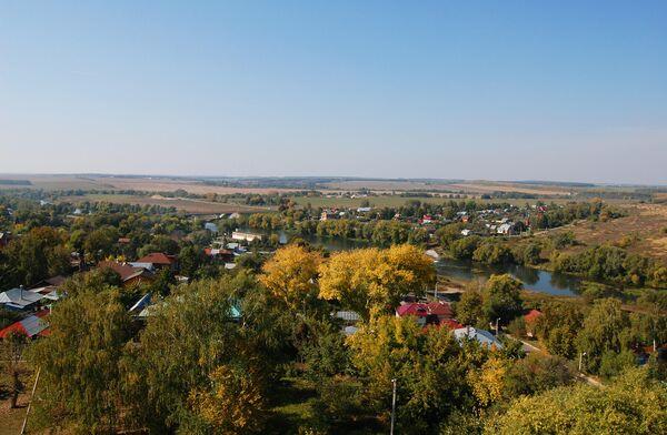 Вид на Зарайск, Россия