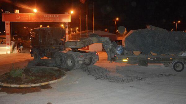 Стягивание турецкой техники к границе с Сирией