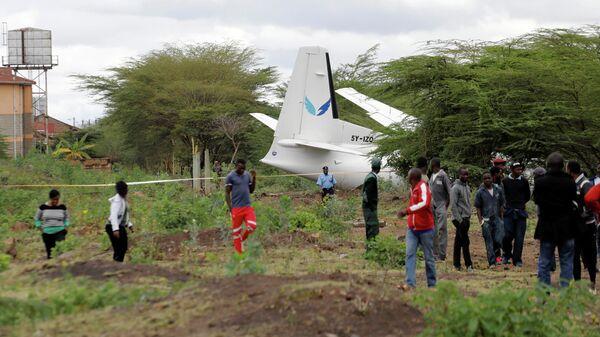 Место крушения самолета в Найроби, Кения. 11 октября 2019