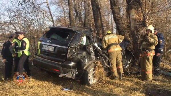 Видео с места ДТП, в котором погиб Николай Булакин