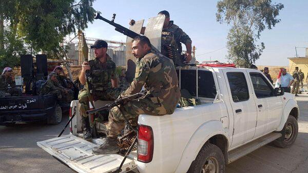 Сирийские военные в Тель-Тамре