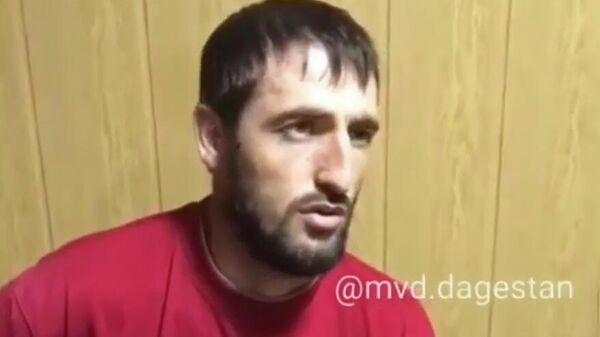 Задержанный за вторжение в школу в селе Уллуая в Дагестане