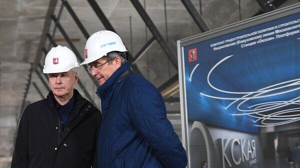 Строительство станции метро Окская