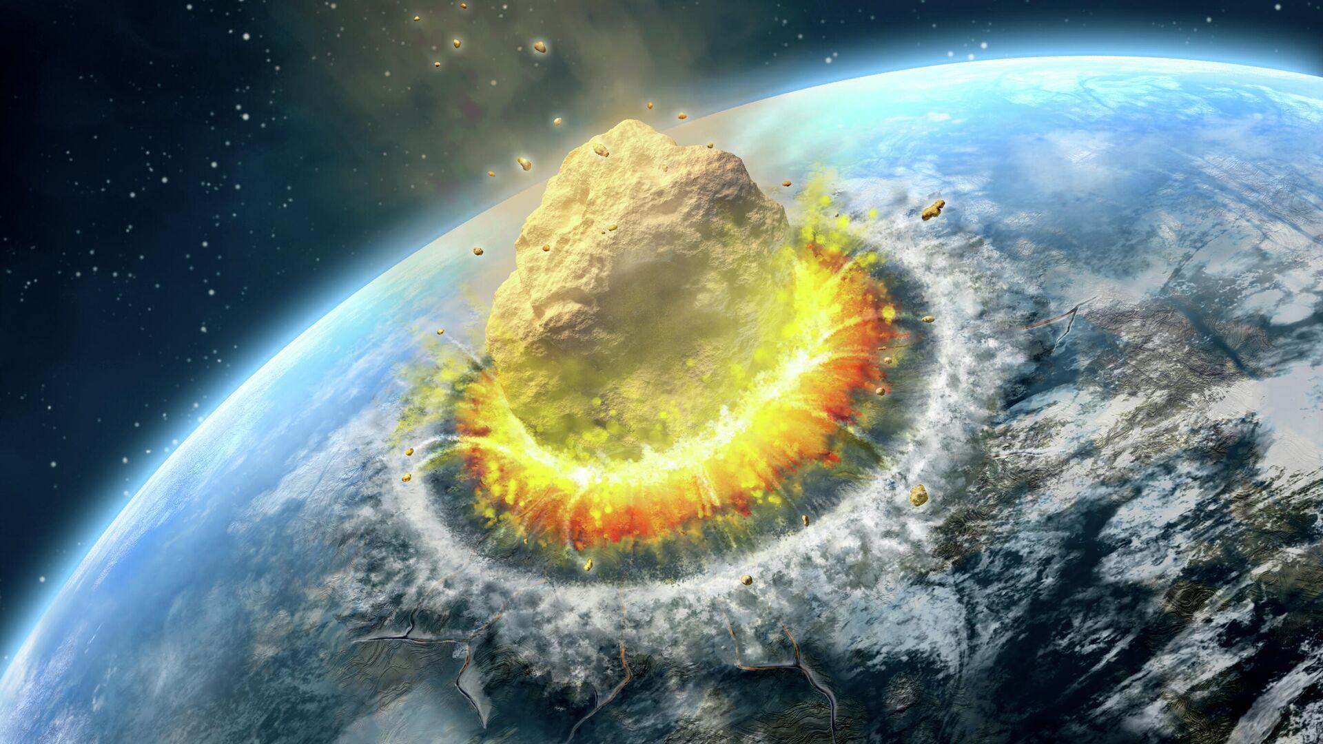 Столкновение астероида с Землей - РИА Новости, 1920, 07.09.2020