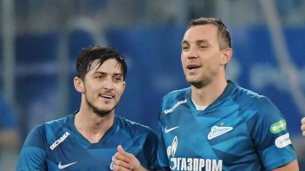 Футболисты Зенита Сердар Азмун, Артём Дзюба и Бранислав Иванович