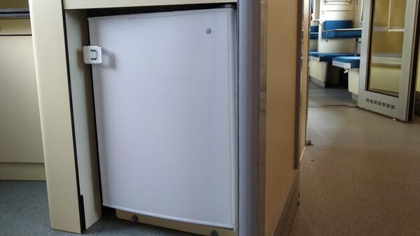 Российский плацкарт с душем, вендинговыми автоматами, холодильником и микроволновкой