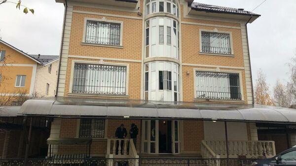 Здание хостела в Новой Москве, где были обнаружены тела мужчины и женщины с ножевыми ранениями