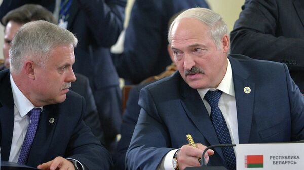 Государственный секретарь Совета безопасности Станислав Зась и президент Белоруссии Александр Лукашенко