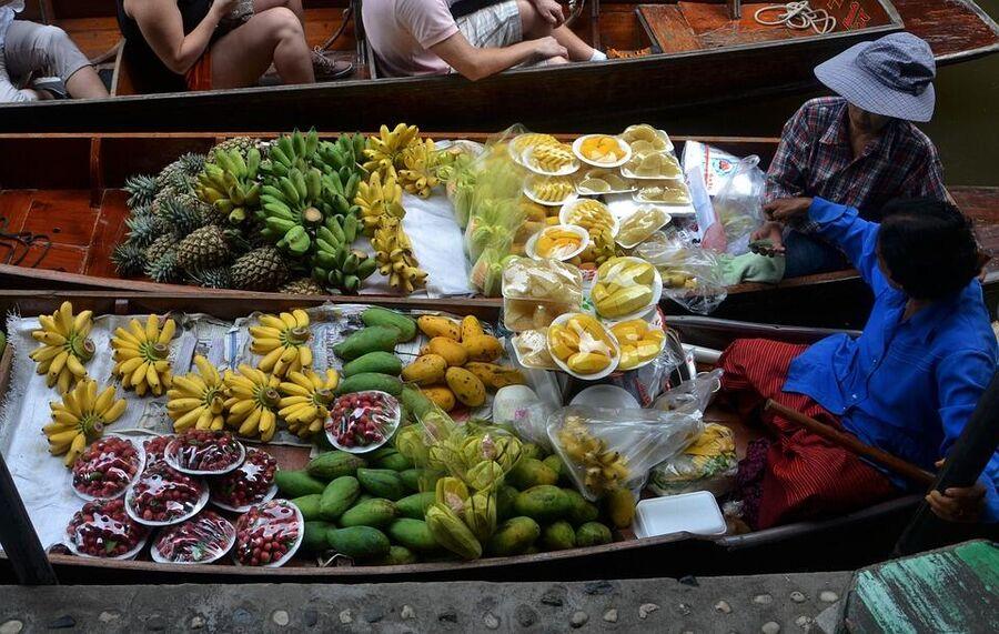 Плавучий рынок, Таиланд