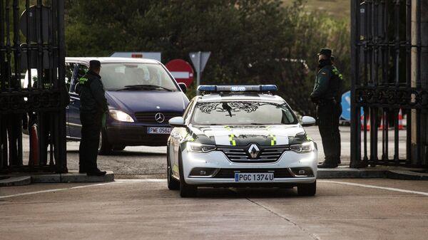 Эксгумация останков испанского диктатора Франсиско Франко в Сан-Лоренцо-дель-Эскориал, недалеко от Мадрида, Испания