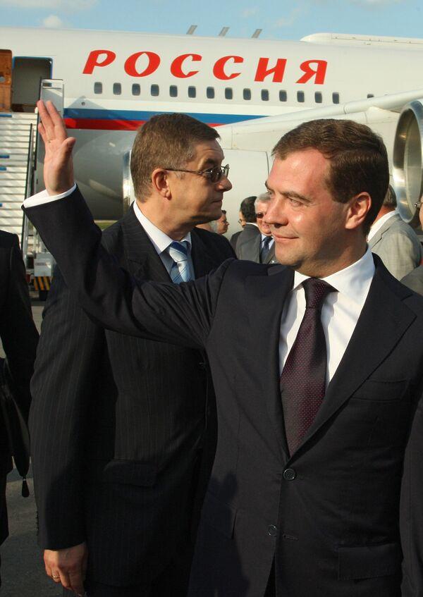 Президент России Дмитрий Медведев посетил столицу Кубы Гавану