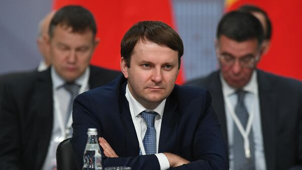 Министр экономического развития РФ Максим Орешкин на заседании Совета глав правительств СНГ