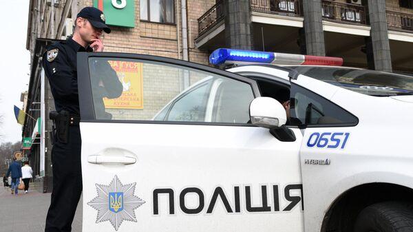 Сотрудник Украинской полиции в Киеве