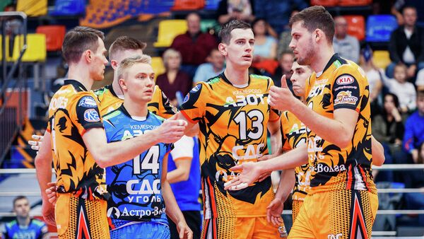 Игроки ВК Кузбасс