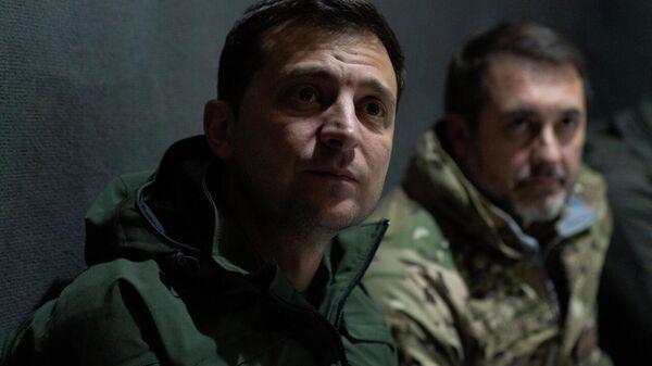Президент Украины Владимир Зеленский посетил участок разведения сил в Золотом
