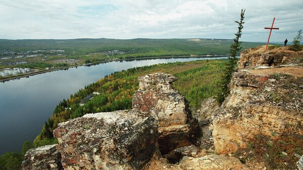 Вид на реку Амга в Якутии