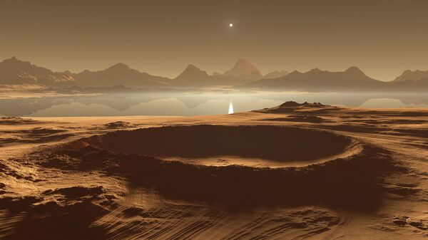 Титан, крупнейший спутник Сатурна
