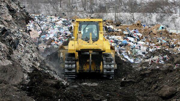 Работы по рекультивации полигона бытовых отходов