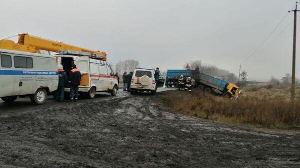 ДТП с участием грузовика в Щигровском районе Курской области. 6 ноября 2019