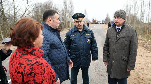 Руденя дал поручения при ремонте дорог в пострадавших от циклона районах