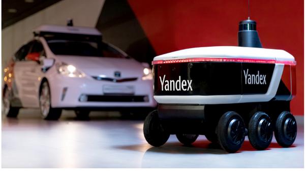 Беспилотный робот-курьер от Яндекс
