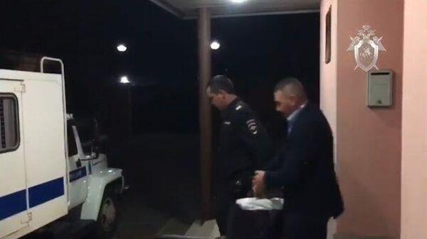 Кадры задержания министра строительства и архитектуры по Ставропольскому краю