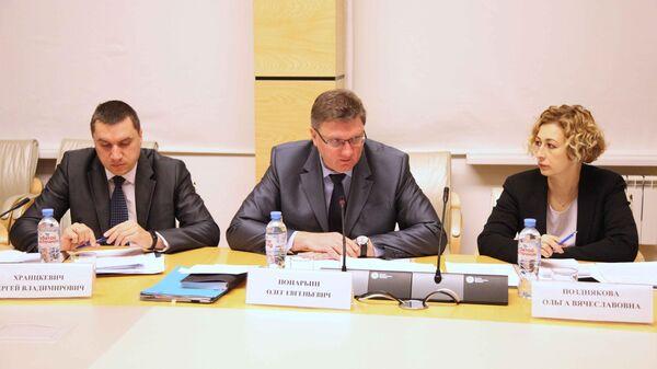 Участники межведомственного совещания в Главном управлении по обеспечению безопасности дорожного движения МВД России
