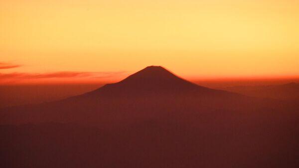 Вулкан в Японии