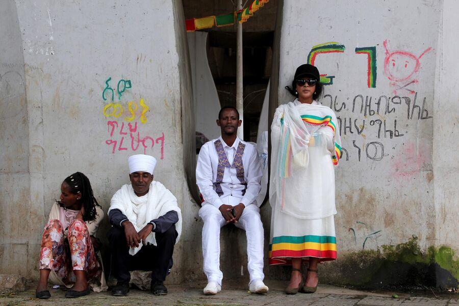Жители Аддис-Абебы
