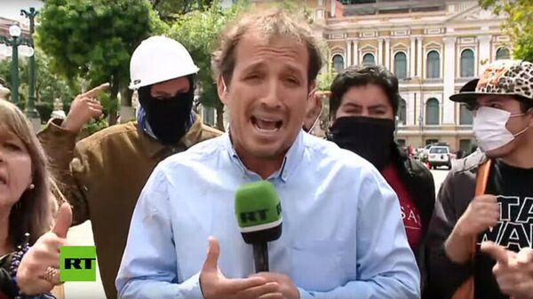 В Боливии противники Моралеса попытались сорвать включение в эфир корреспондента RT Франсиско Гуаиты